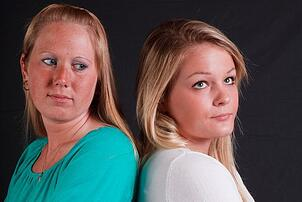 when we isn't me, two upset women