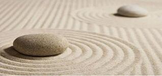 Deepak Chopra Quotes, meditation rocks and sand