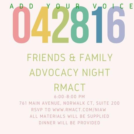 Friends & Family Infertility Advocacy Night