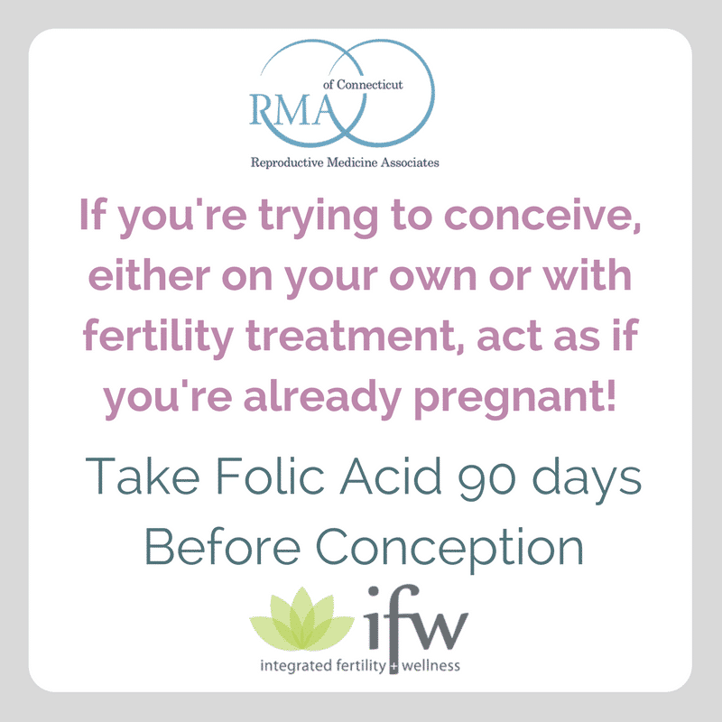 Take folic acid 90 days before conception